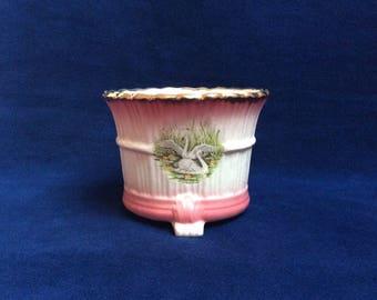 Vintage indoor planter. Vase. Plant pot holder. Bowl. Early 1900's.