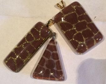 Giraffe animal print pendants