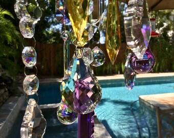 Crystal Sun Catcher Rainbow Prism Light Catcher Crystal Light Chimes.