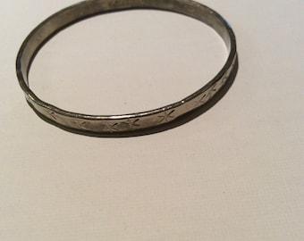 Vintage Alpaca Silver Bracelet