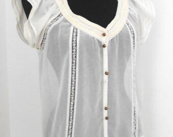 White Chiffon Tunic, Zara TRF,Made in India