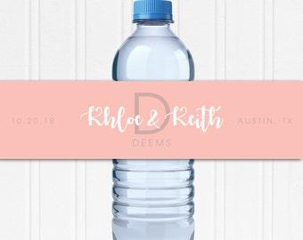 Wedding Water Bottle Labels - Custom Water Bottle Labels - Waterproof Labels - Custom Water Labels - Personalized Water Bottle Wraps