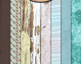 Digital Scrapbook: Paper Pack Extra, Sea Kissed