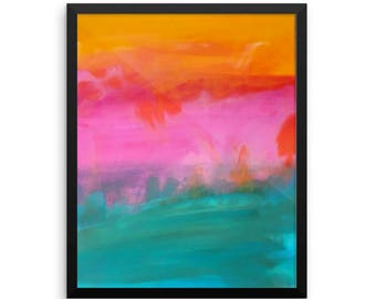 Abstract Landscape - Enhanced Matte Paper Poster 16×20 - Tay Artwork - Local Artist - Affordable Wall Art