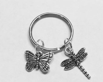 Gift For Her, Monarch Butterfly Dragonfly Keychain, Animal Keychain, Gift For Her, Gift Daughter Niece Keychain