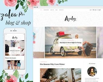 Azalea Pro - Wordpress theme - Feminine wordpress theme - Responsive WordPress Theme - Blog template - Fashion template - WooCommerce