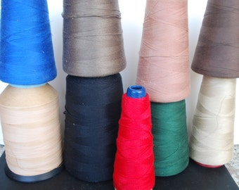 On sale,Vintage Yarn Cones 9 Mix Collection
