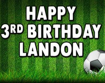 Soccer custom birthday banner