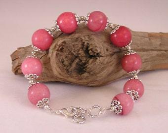 Gemstone Bracelet, Stone Bead Bracelet, Stacking Bracelet, Stone Bracelet Women, Pink Bracelet, Bracelet Stone Bead, Gift for Her