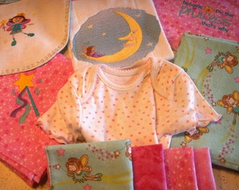 Faerie Princess New Baby Girl Embroidered Shower Gift Set