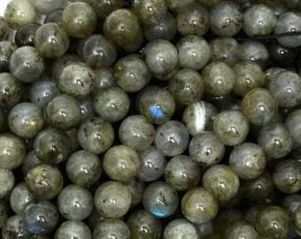"7mm gray labradorite round beads 15.5"" strand 39006"