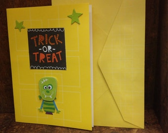 Halloween Frankenstein handmade card