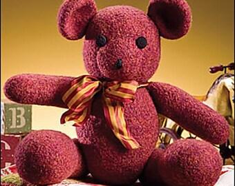 FELTED Teddy Bear Crochet PATTERN Cute