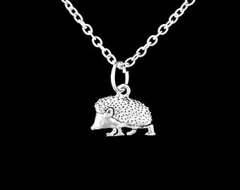 Hedgehog Necklace, Animal Necklace, Charm Gift Daughter Wife Girlfriend Charm Necklace