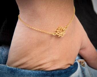 Silver Lotus Bracelet, Yoga Bracelet, Lotus Bracelet, Flower Bracelet, Silver Yoga 2