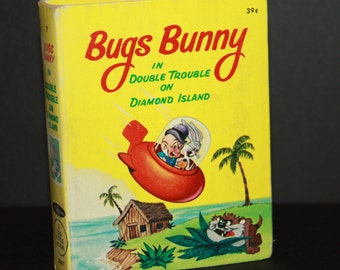 Vintage Big Little Book  Bugs Bunny in Double Trouble on Diamond Island 1967, Vintage Childrens Book, Bugs Bunny