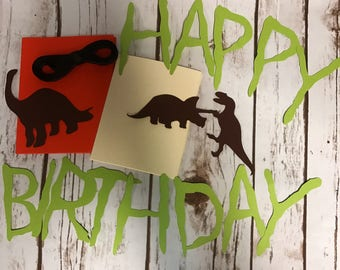 DIY Dinosaur Happy Birthday Banner, Dinosaur Silhouette Birthday Party Banner, Dinosaur Party Decorations, Dino Birthday Party Decor