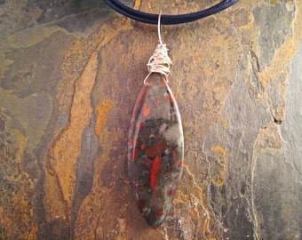 Handcrafted Jasper and Silver Pendant (P171)