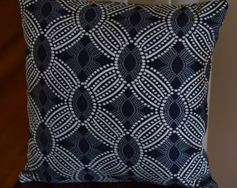 HGTV Onyx 18x18 Throw Pillow Cover with Invisible Zipper