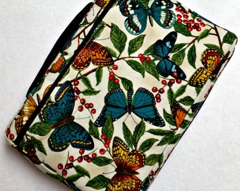 Bible Cover Custom Fit Blue Butterflies Your Bible Measurements Required
