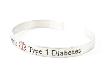 Medical ID Bracelet - Medical Alert Bracelet - Diabetes Bracelet - Epilepsy Bracelet - Allergy Bracelet - Medical Alert - Silver Cuff