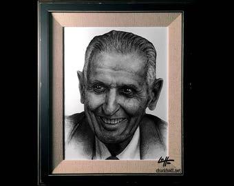 Dr. Jack Kevorkian - Original Drawing - Doctor Death Dark Art True Crime Horror Lowbrow Art Pop Art Suicide Machine Author Spooky Oregon