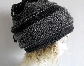 3 in 1 Cowl Dread Tube Beanie Hat Mens dreadlock tube hat Outlander ispired hat striped hair wrap, dread band Goth Tube Hat