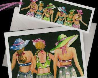 Beach Babes Card and Bookmark
