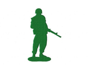 Army Military soldier machine embroidery design