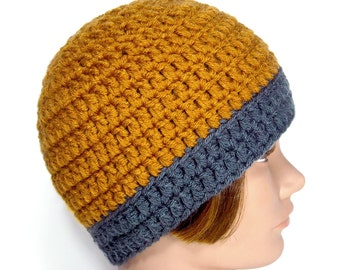 Handmade Beanie Cap Hat - Oxford Butterscotch