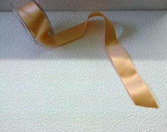 Orange salmon 4cm wide stranded 3824 satin ribbon