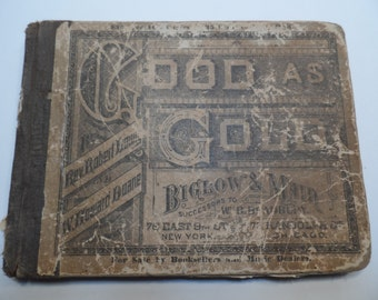 Antique  Good As Gold Sunday School Music Hymns Song Book Copyright 1800