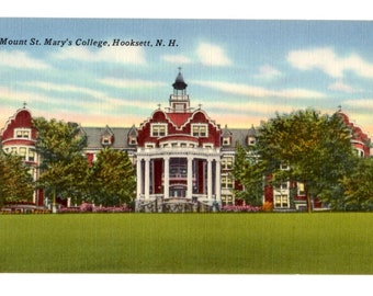 MOUNT SAINT MARY College, Hooksett New Hampshire Vintage Unused Postcard