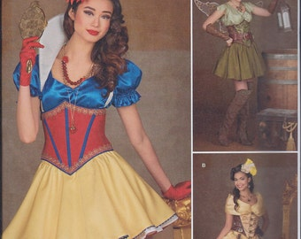 Simplicity 1093 Misses Steampunk Princess Fairy Cos Play Costumes UNCUT Sewing Pattern