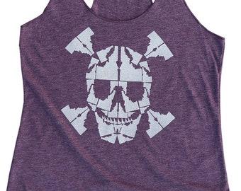 Idaho Skull Ladies Tank - BANANA ink
