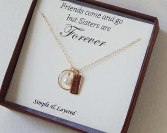 Sisters Gift • Dainty Gold Infinity Charm • Sisters for Eternity • Best Friends Forever • Birthday Gift • Gift for Her