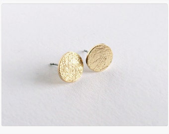Ear studs GOLD circle, circle, filigree earrings in gold, round earring
