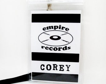 Empire Records Corey Name Badge Prop Cosplay Costume