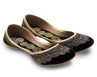 Handmade Women's Ballerina Shoes with Threadwork