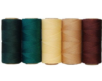 Waxed Cord Polyester - Macrame Cord - Set of 5 Colors - 10 meters each color