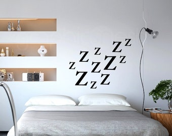 Wall decals ZZZzzzz Vinyl lettering interior modern decor - Wall stickers by Graphics Mesh