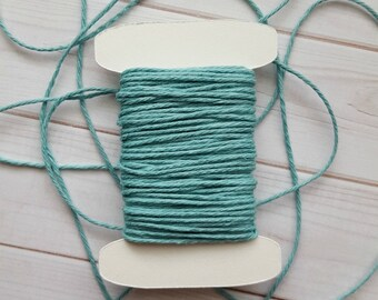 10 Yards Solid Teal Baker's Twine, Divine Twine Baker's Twine, 100% Cotton