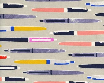 Trinket Pens in Neutral from Trinket - 1/2 Yard - Melody Miller for Cotton and Steel
