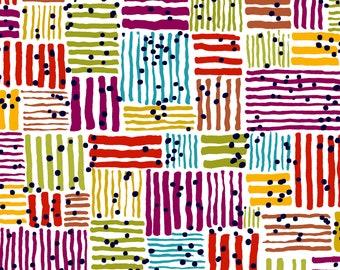 Windham Beyond the Reef Natalie Barnes Makers Home Multi Color Tatami Magenta Fabric BTY 43148-1