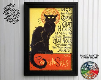 Chat Noir 1896 Poster Framed Canvas Art Print