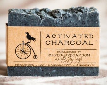 Charcoal face soap activated charcoal organic soap acne soap bar husband gift boyfriend gift bestfriend gift homemade soap for girlfriend