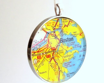 Ornament - Boston MA Ready to Ship (Packaged) - Beantown - Charles River - Boston Harbor -  Souvenir