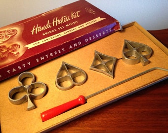 Retro Bonley Handi Hostess Kit bridge set molds from the 50s
