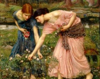 Gather Ye Rosebuds - Cross stitch pattern pdf format
