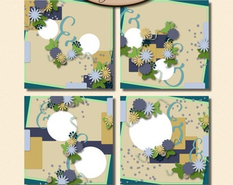 Digital Scrapbooking, Layout Template, Commercial Use Friendly: Better Together